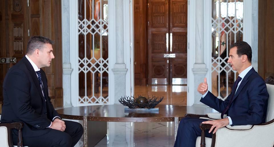 الرئيس الاسد فى مقابلة مع قناة أس بى أس الاسترالية تنشر غداً معظم المسؤولين الغربيين يكررون فقط ما تريد الولايات المتحدة منهم قوله