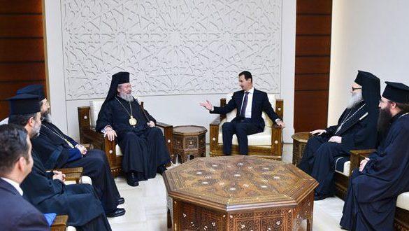 الرئيس الأسد لرئيس أساقفة قبرص: أحد الأهداف الرئيسية للهجمة الإرهابية التي تتعرض لها سورية نشر الفكر والممارسات التكفيرية المتطرفة لضرب النسيج الاجتماعي المتنوع والمنسجم