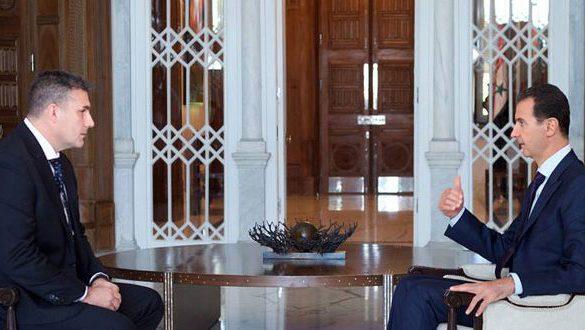 """الرئيس الأسد في مقابلة مع قناة """"أس بي أس"""" الأسترالية تنشر اليوم: الـدول الـغربية تهـاجـمنا سـياسياً وترسل مسؤوليها للتعامـل معنا من تحت الطـاولـة"""