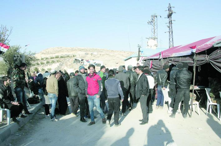 تسوية أوضاع 500 شخص بينهم 60 مسـلحـاً  وقريباً منطقة وادي بردى خالية من الإرهاب