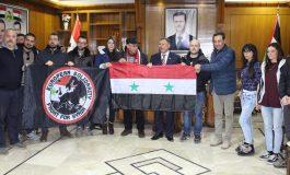 وفد من الجالية السورية في إيطاليا والجبهة الأوروبية يزور حلب