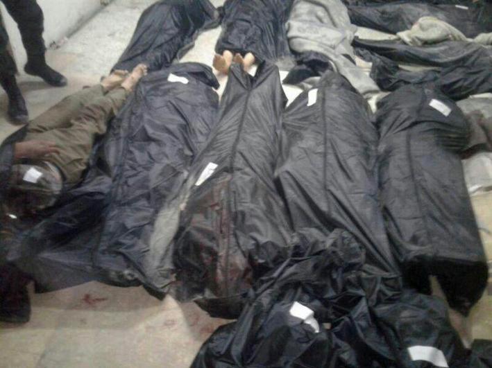 152 شهيداً وجريحاً في مجزرة  لإرهابيي داعش في قرية عقارب الصافية