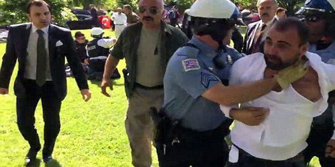 اعتداء حراس أردوغان على متظاهرين أتراك يثير غضب واشنطن