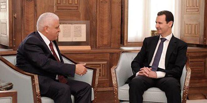 الرئيس الأسد يتلقى رسالة شفهية من رئيس الوزراء العراقي حيدر العبادي
