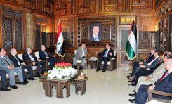 """الهلال يلتقي وفد حركة الناصريين المستقلين """"المرابطون"""": سورية مستعدة لتقديم الدعم لكل التيارات العروبية"""