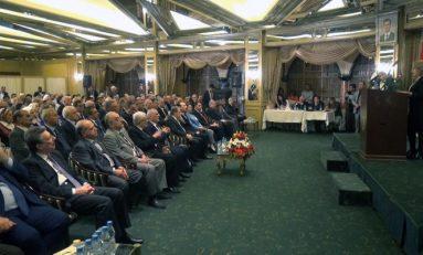 الحمصي في مؤتمر نقابة المحامين: متابعة الجرائم المرتكبة بحق سورية