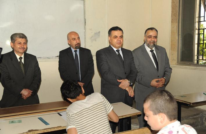 وزيرا الأوقاف والتربية تفقدا  امتحانات التعليم الأساسي والإعدادية الشرعية