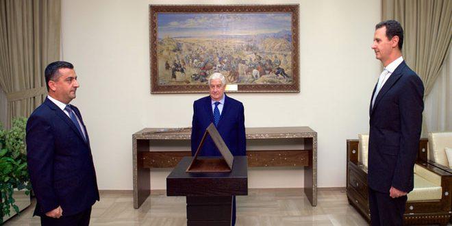 أمام الرئيس الأسد.. سفراء سورية الجدد لدى جنوب أفريقيا وكوبا وأرمينيا يؤدون اليمين القانونية