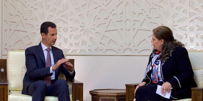 الرئيس الأسد يوجّه رئيس الهيئة المركزية للرقابة والتفتيش بالتشدد في مكافحة مظاهر الخلل كافة