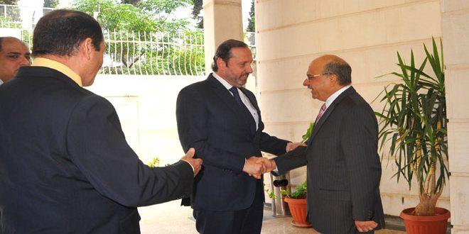 ممثلاً للرئيس الأسد..الوزير عزام يقدم التهاني للعراق شعباً وحكومة وجيشاً بتحرير الموصل
