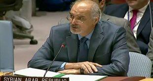 أكد موقف سورية المبدئي والثابت في دعم الشعب الفلسطيني  الجعفري: على مجلس الأمن الاضطلاع بمسؤولياتها وإنهاء الاحتلال فوراً