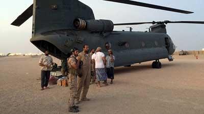 تحطم مروحية إماراتية ومقتل 46 من قوات التحالف السعودي في اليمن