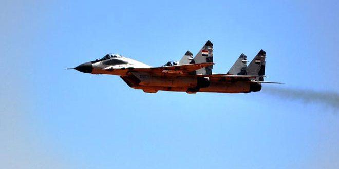 """سلاح الجو يدمر تحصينات وآليات مدرعة لـ """"داعش"""""""