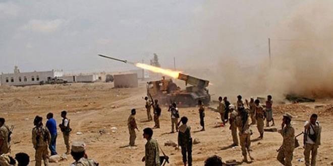 الجيش اليمني يستهدف مرتزقة العدوان السعودي بصواريخ زلزال1