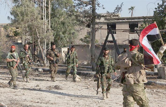 """التنظيمات الإرهابية تواصل انتهاك اتفاق مناطق تخفيف التوتر  الجيش يـسيطر على قريـة مـنـوخ في ريـف حمـص  وفرار مسؤول التدريب في """"داعش"""" من دير الزور"""