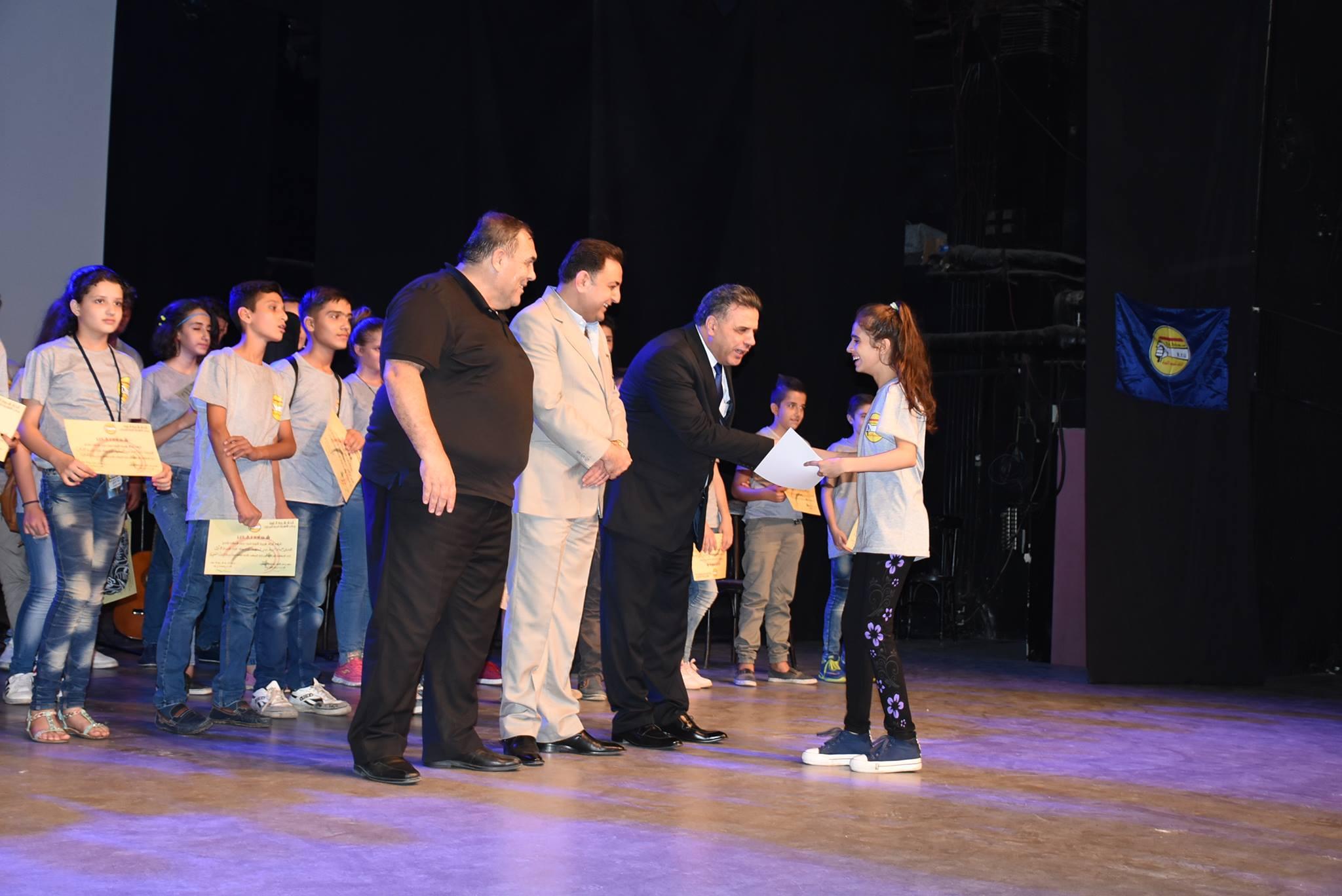 تتويج الفائزين في المسابقة الوطنية للمواهب الفنية الشابة