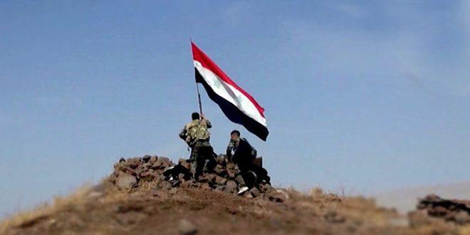 الجيش العربي السوري يسيطر على مساحة 1300 كم مربع والمخافر الحدودية مع الأردن بريف السويداء