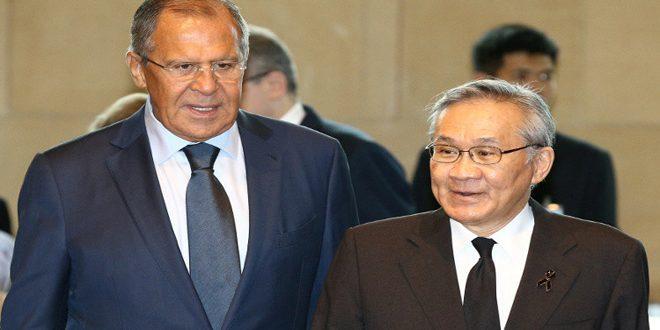 لافروف يدعو لحل النزاعات الدولية سلمياً وفقا لميثاق الأمم المتحدة