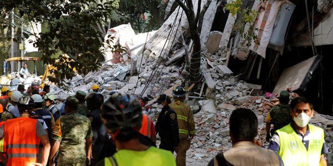 138 قتيلاً في حصيلة جديدة لضحايا زلزال المكسيك