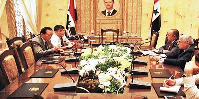 مباحثات سورية كورية ديمقراطية لتعزيــــز العلاقـــــات البرلمانيـــة