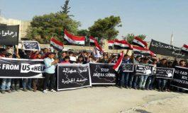 """وقفة احتجاجية في السفيرة على مجازر """"التحالف الدولي"""""""