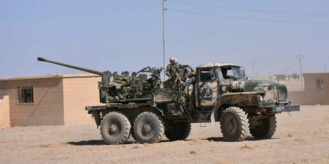 تأمين مهابط مطار دير الزور تمهيداً لإعادة إقلاع الطائرات  الجيش يسيطر على 14 قرية وعدد  من التلال الحاكمة بريف حمص الشرقي