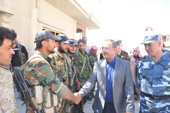 الشعار يزور وحدات المهام الخاصة في حمص وجبال القلمون