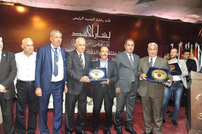 اختتام الملتقى النقابي الدولي: رفع فوري للعقوبات عن سورية