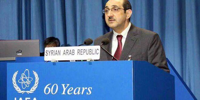 السفير الصباغ: بعض الدول الأعضاء في الأمم المتحدة تساند إسرائيل في تطوير قدراتها النووية