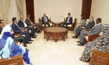 الرئيس الأسد للوفد البرلماني الموريتاني: الحـــوار الفكري بيـــن البرلمانـــات والأحـــزاب مهـــم جداً لتكويــن رؤيـــة موحّدة تجاه القضايا والتحديات التي تواجه الأمـــة العربيـــة