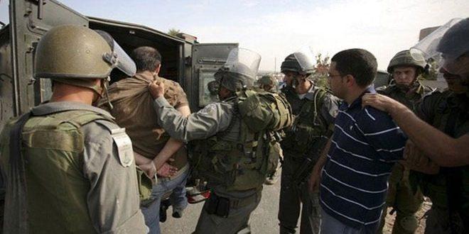 قوات الاحتلال الإسرائيلي تعتقل 14 فلسطينياً في الضفة الغربية