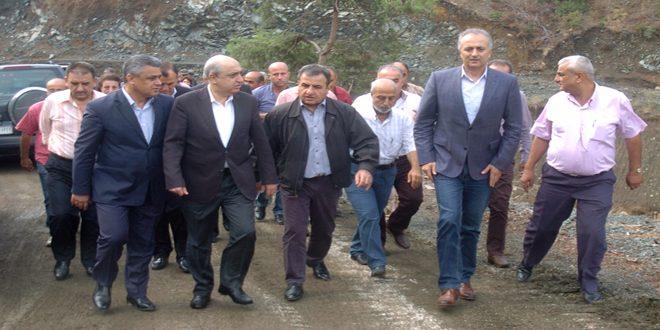 وزير الموارد المائية يتفقد مشروعات السدود في اللاذقية