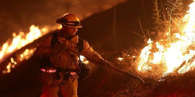 إعلان حالة الطوارئ في كاليفورنيا لمواجهة الحرائق