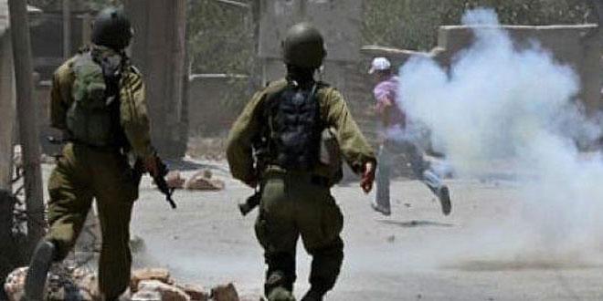 إصابات بحالات اختناق بين الفلسطينيين في قلقيلية بالضفة الغربية