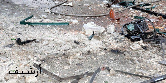 استشهاد 6 عمال جراء اعتداء المجموعات الإرهابية المسلحة بقذيفتين على مطحنة الوليد بحمص
