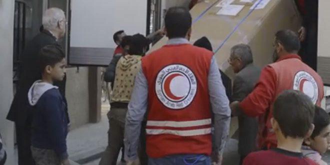 قافلة مساعدات إنسانية لأهالي جيرود