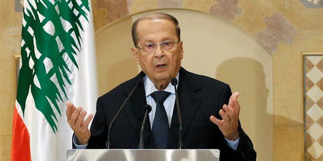 عون: الاستهداف الإسرائيلي للبنان مستمر ومن حق اللبنانيين أن يقاوموه