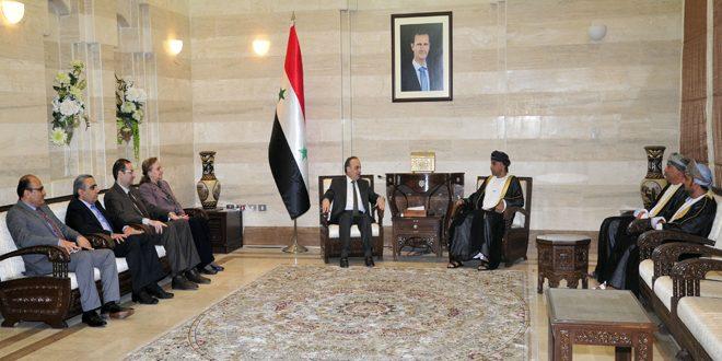 المهندس خميس: أهمية البدء بخطوات فاعلة لتفعيل التعاون الاقتصادي بين سورية وسلطنة عمان