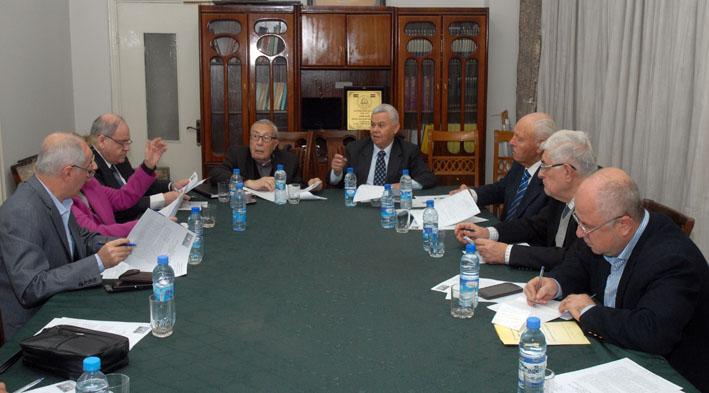 اجتماع مشترك للجنة دعم الشعب الفلسطيني وقيادات وممثلي الفصائل وجامعة الأمة العربية