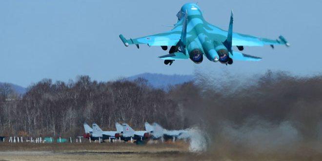 دفعة جديدة من الطائرات الروسية العاملة في سورية إلى قواعدها