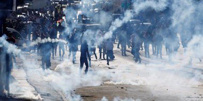 إصابة عدد من الفلسطينيين خلال قمع الاحتلال مظاهرات بالضفة