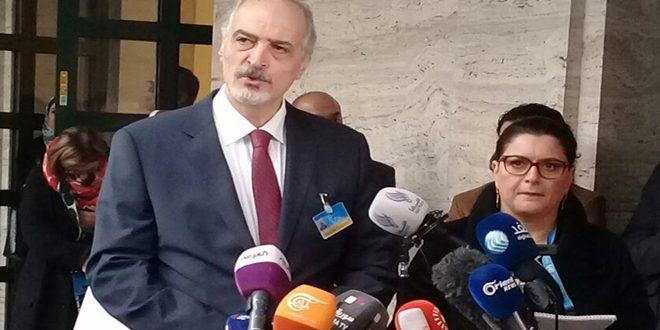 """الجعفري: لن ندخل في حوار مباشر بوجود شروط مسبقة.. من صاغ """"بيان الرياض 2"""" تقصد تلغيم مسار جنيف"""