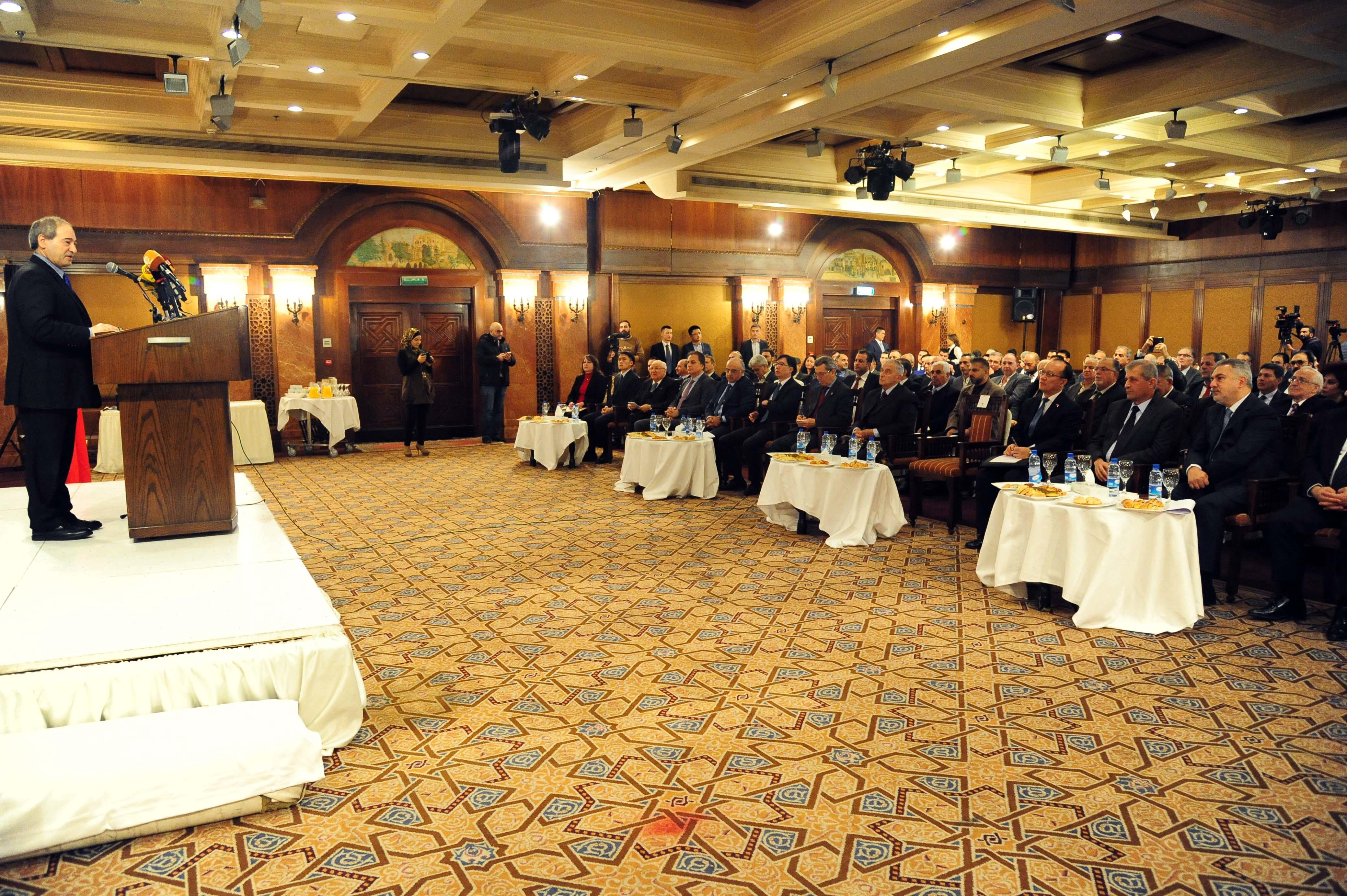 """""""الملتقى السوري الصيني"""" يناقش آفاق تطوير العلاقات الاقتصادية والتجارية"""
