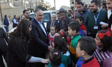 وفد أممي في حمص لبحث واقع العمل الإغاثي