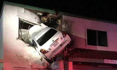 حادث سيارة يحطم قواعد الطبيعة والمرور